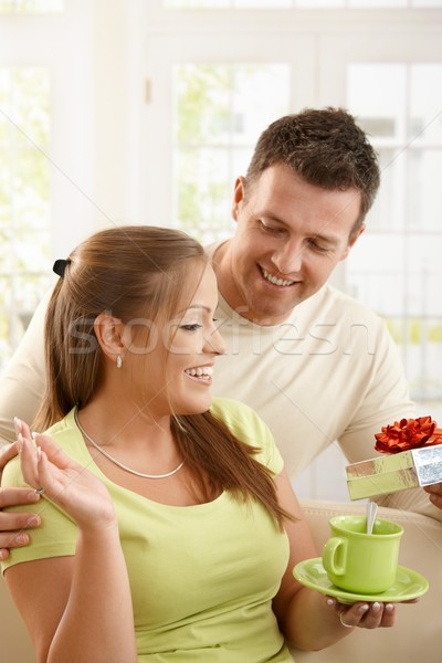 Man surprising woman Stock photo © nyul