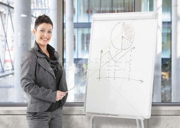 Businesswoman doing presentation  Stock photo © nyul