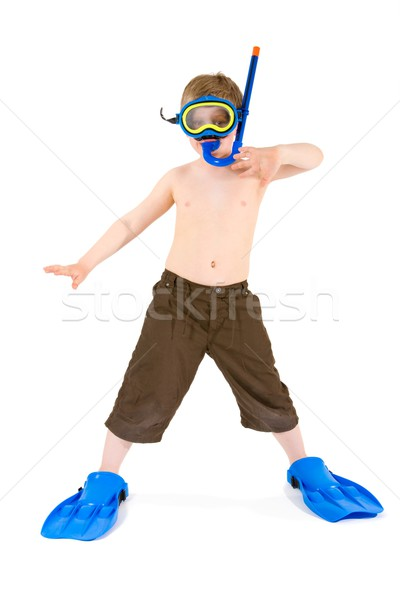 Child in scuba diving Stock photo © nyul
