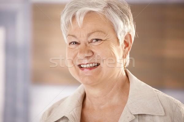 портрет белые волосы счастливым глядя Сток-фото © nyul