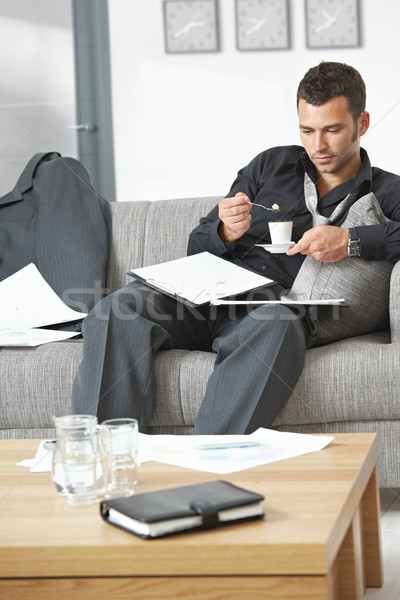 Tired businessman at office Stock photo © nyul