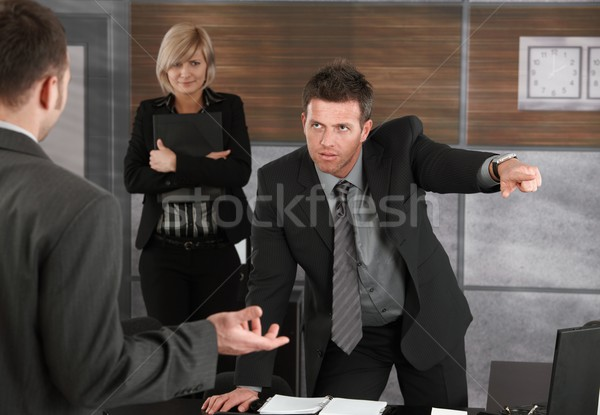Executive firing employee Stock photo © nyul