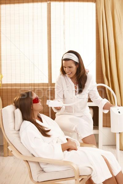 Diente blanqueo tratamiento cosméticos láser belleza Foto stock © nyul