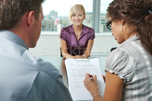 Stock photo: Excellent job interview