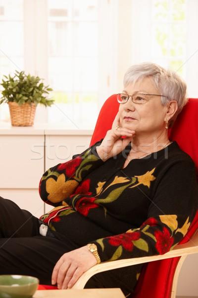 Senior woman thinking Stock photo © nyul