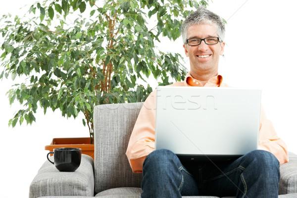 Man browsing internet Stock photo © nyul