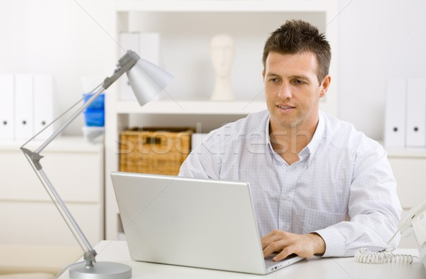 Businessman working at home Stock photo © nyul