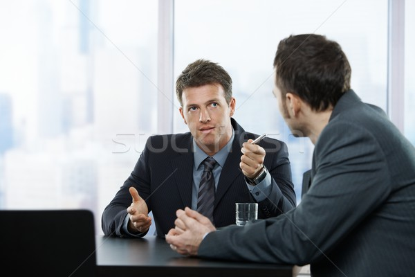 Businessmen at discussion Stock photo © nyul