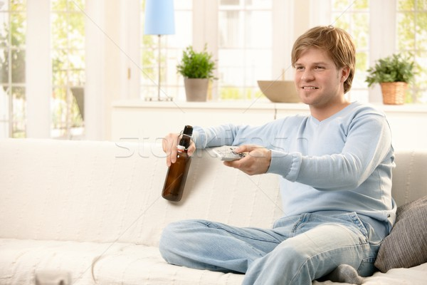Man relaxing at home Stock photo © nyul