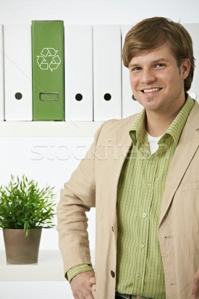 Portrait of young environmentalist man Stock photo © nyul