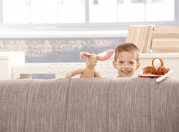 Cute little boy with toys Stock photo © nyul