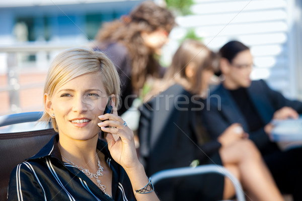 Businesswoman talking on mobile Stock photo © nyul