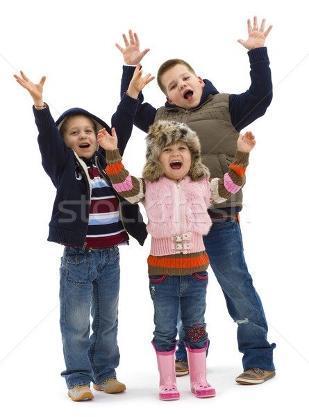 Group of happy kids Stock photo © nyul