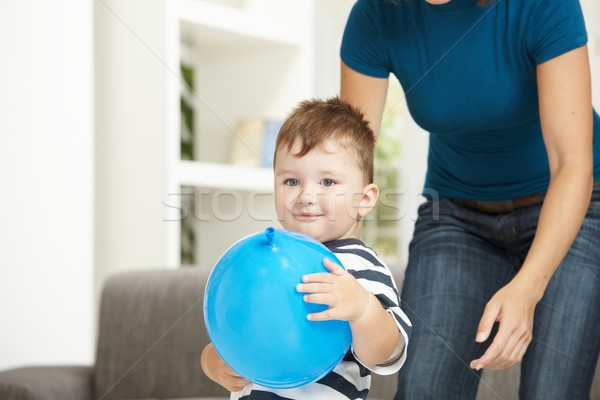 Little boy with toy ballon Stock photo © nyul