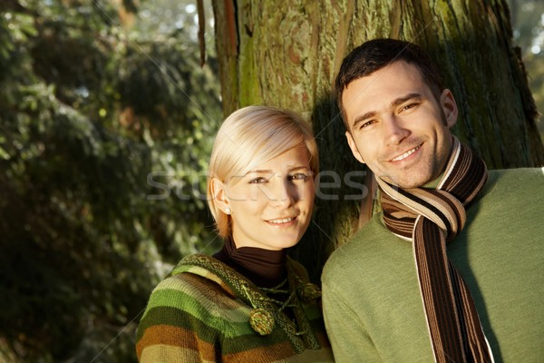 Portrait of young couple in sunlight Stock photo © nyul