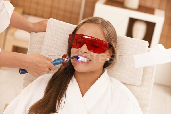Laser tooth whitening Stock photo © nyul
