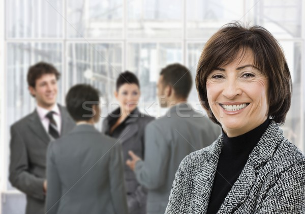 Senior businesswoman smiling Stock photo © nyul