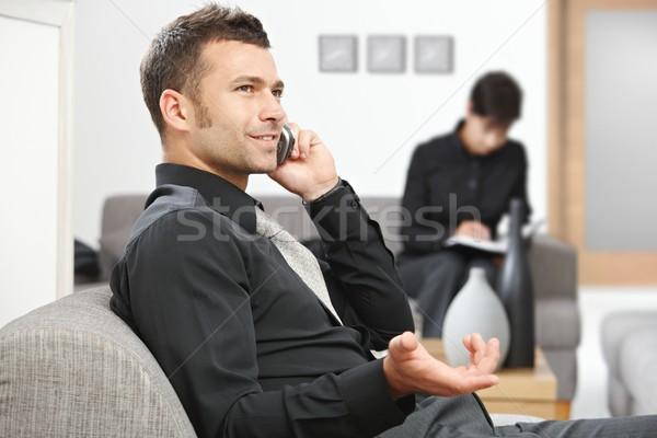 Businessman calling Stock photo © nyul