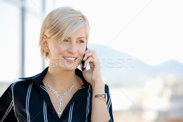 Businesswoman on cellphone Stock photo © nyul