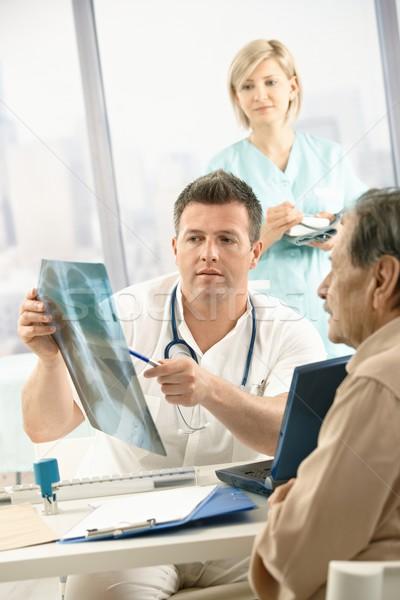 医師 X線 画像 患者 診断 ストックフォト © nyul