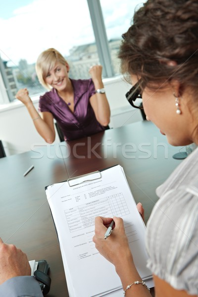 Stock photo: Successful job interview
