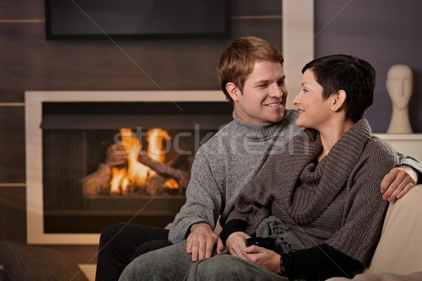 Couple hugging home Stock photo © nyul