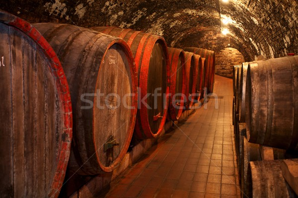 Vin vieux cave Winery verre Photo stock © nyul