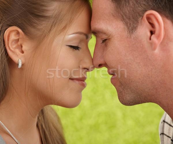 улыбаясь пару любви любящий пары лицах Сток-фото © nyul