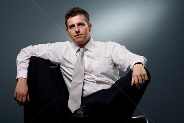 Businessman sitting on chair Stock photo © nyul