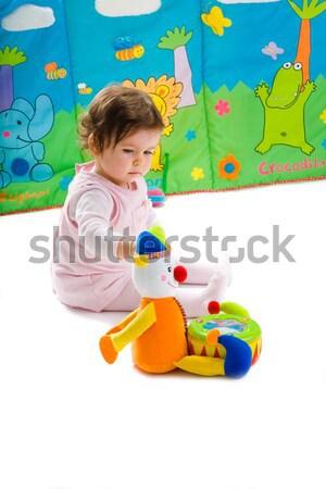 Baby jongen spelen speelgoed maanden oude Stockfoto © nyul