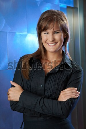 Businesswoman with crossed arms Stock photo © nyul