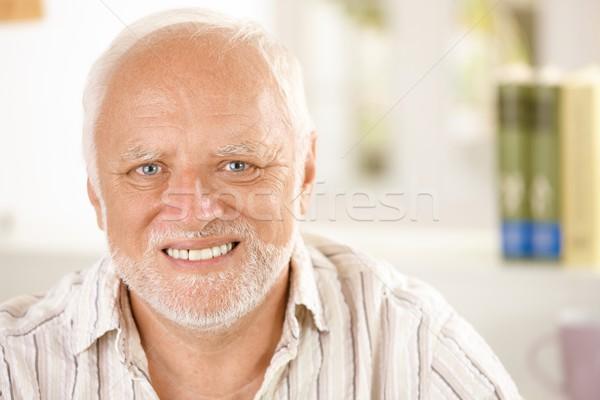 Portrait of cheerful pensioner Stock photo © nyul