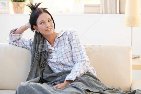 утра портрет девушки покрытый Сток-фото © nyul