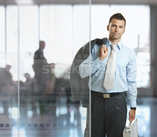 Businessman leaving office Stock photo © nyul