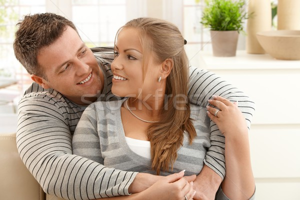 Mid-adult couple at home Stock photo © nyul
