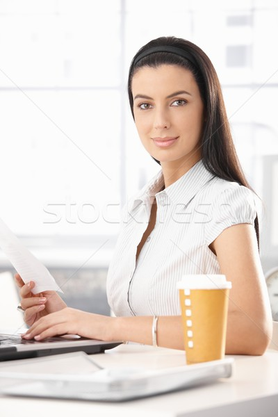 Portrait of attractive office girl Stock photo © nyul