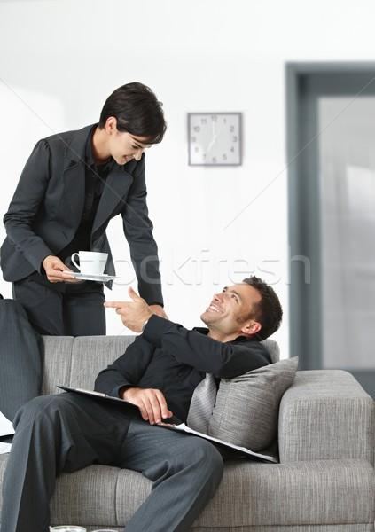Stanco imprenditore persone ufficio ufficio imprenditrice Foto d'archivio © nyul