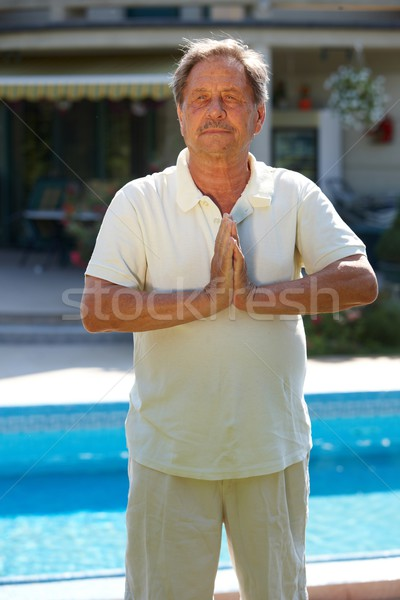 Senior man exercise Stock photo © nyul