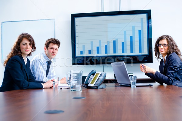 Business meeting at board room Stock photo © nyul