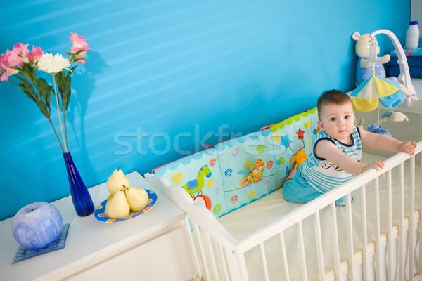 Baby on crib at home Stock photo © nyul
