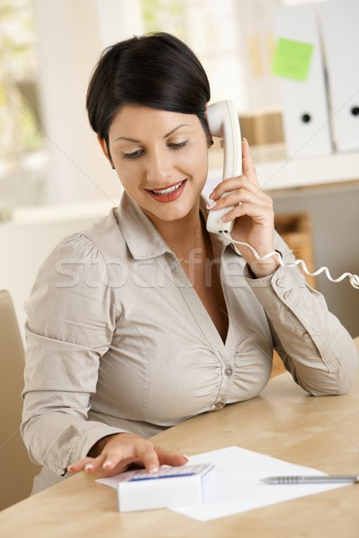 Stock photo: Businesswoman working at home