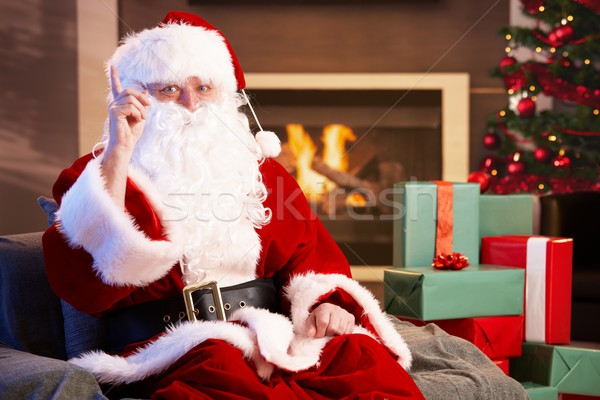 Portrait of Santa Claus by fireplace Stock photo © nyul