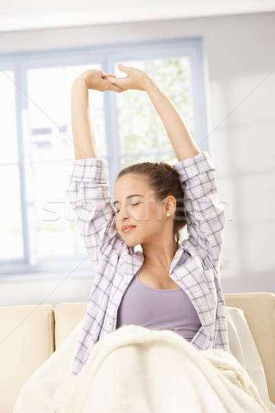 Young woman stretching in morning Stock photo © nyul