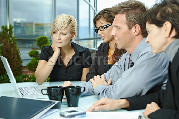 Business people meeting outdoor Stock photo © nyul