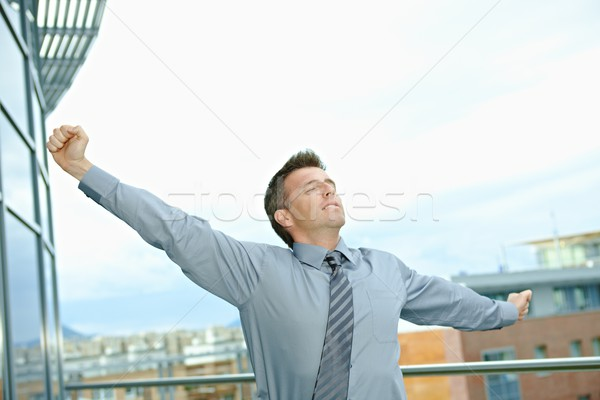 Businessman having break Stock photo © nyul