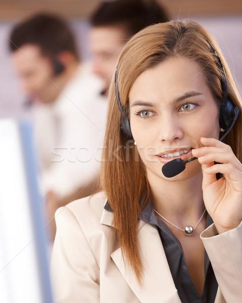 Portrait of attractive female dispatcher smiling Stock photo © nyul