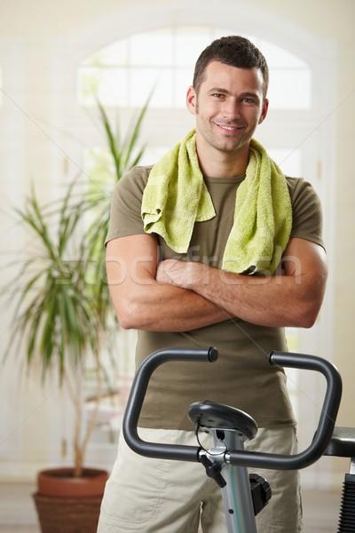 Listo formación hombre toalla Foto stock © nyul