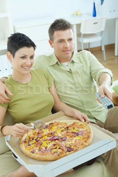 Couple watching TV  Stock photo © nyul