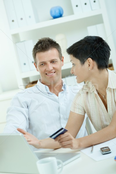 Couple purchasing with credit card Stock photo © nyul