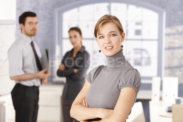 Portré fiatal üzlet csapat iroda nő Stock fotó © nyul